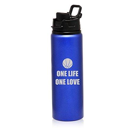 25 oz Aluminum Sports Water Travel Bottle One Life Basketball - Basketball Water Bottles