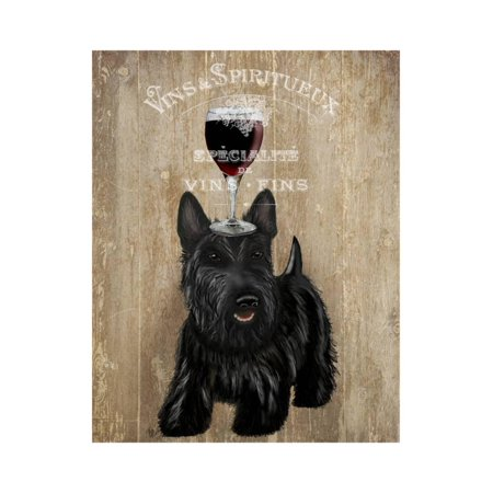 Dog Au Vin Scottish Terrier Print Wall Art By Fab Funky ()