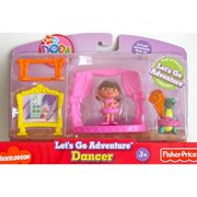 "nick jr. dora the explorer let's go adventure ""dancer"" playset w dora figure, isa figure, 'stage', & more! (2007)"