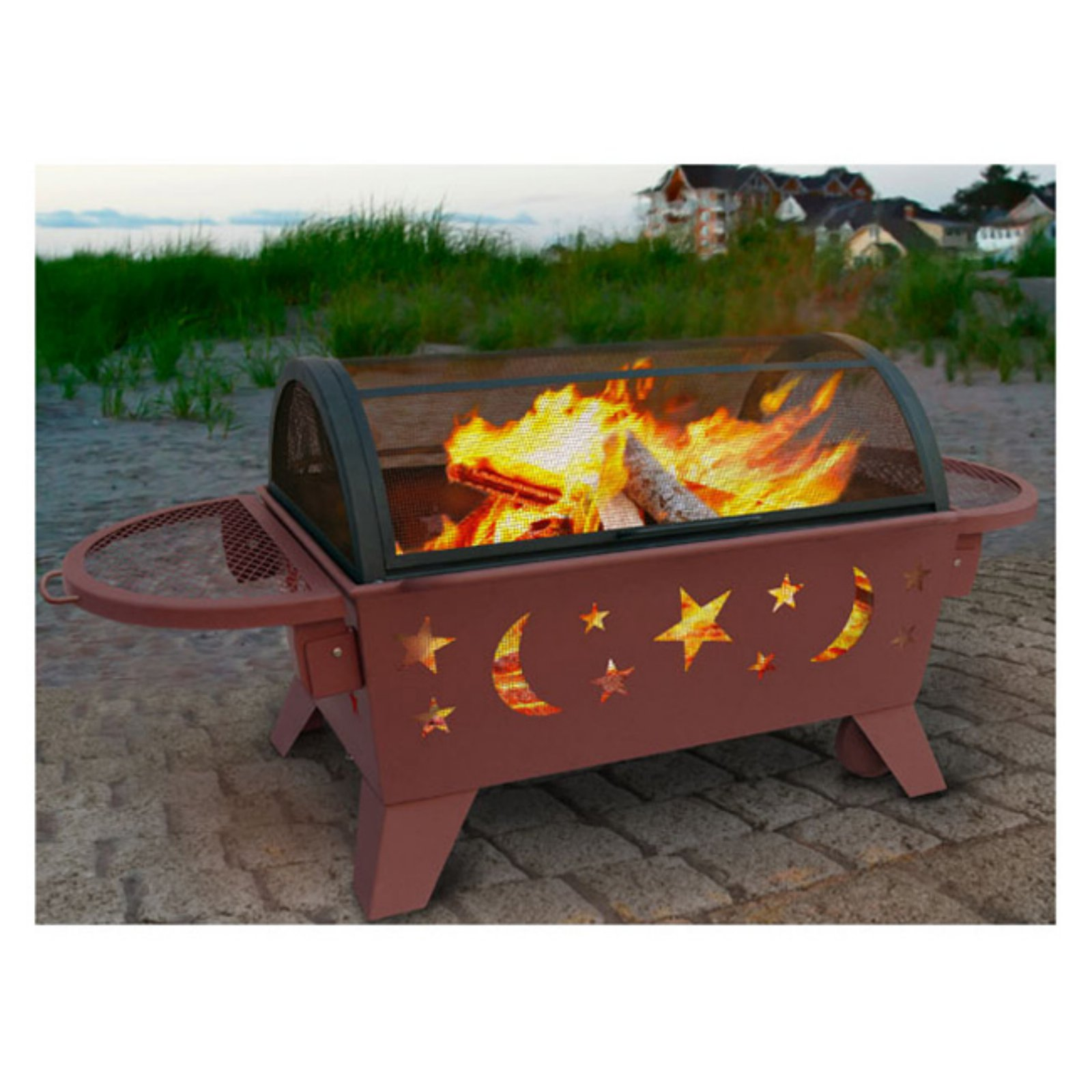 Landmann Northern Lights Outdoor Fireplace, Stars and Moon, Georgia Clay by Generic
