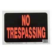 Hy-Ko 8.5 x 12 Plastic No Trespassing Property Sign, Bold Colors