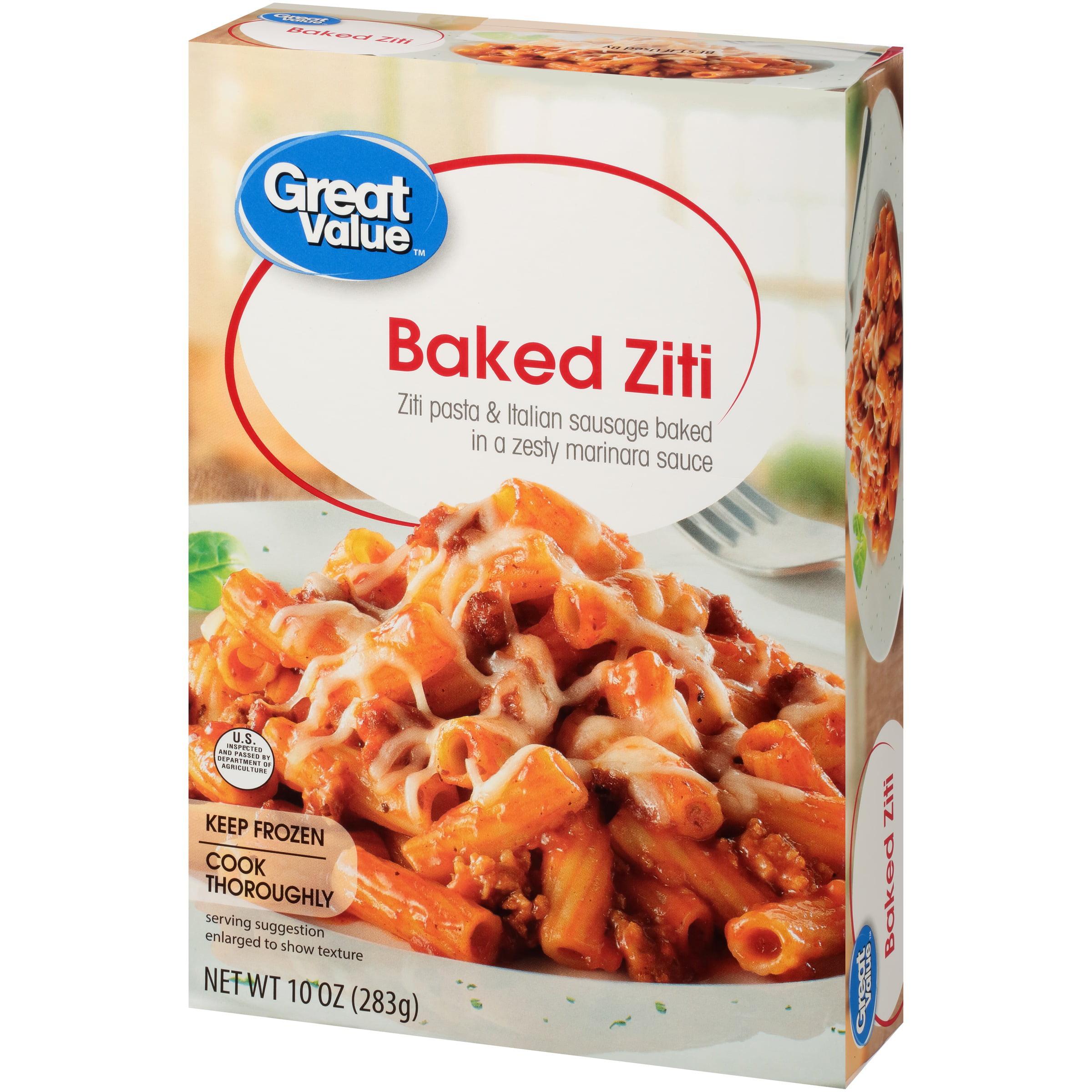 Great Value Frozen Baked Ziti, 10 oz