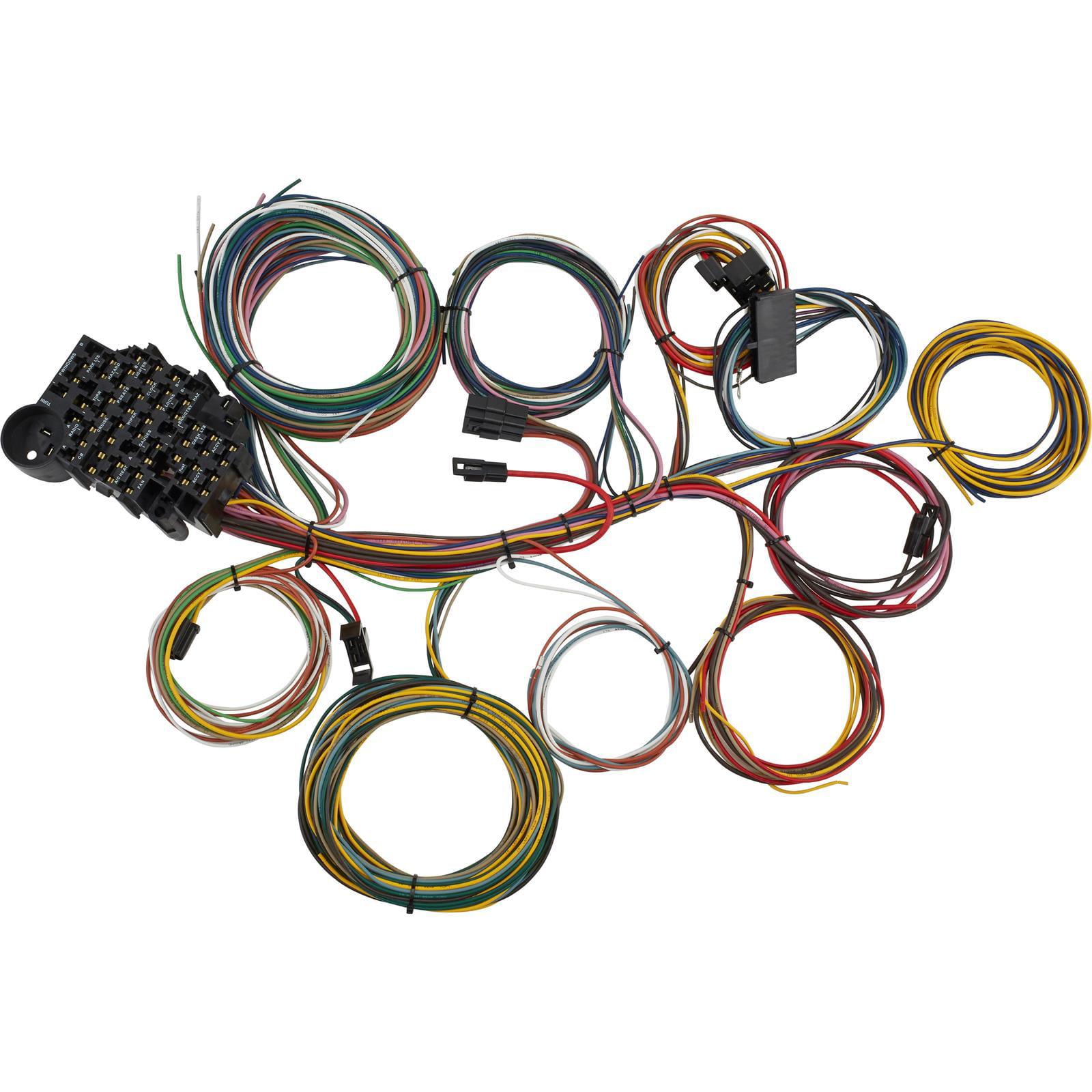 Universal 21 Circuit Street Rod Wiring Harness Manual Guide