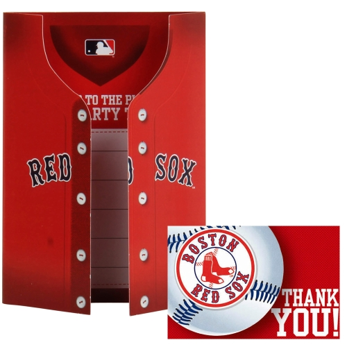 Boston Red Sox Invitation and Thank You Card Set - No Size