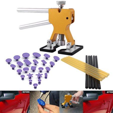 Paintless Dent Repair Tools Dent Puller, Adjustable Width, Pops a Car Dent  Removal Kits, Denten Lifter, Glue Pulling Tabs & Glue Sticks for Automobile