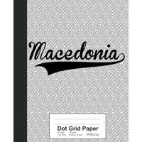 Dot Grid Paper : MACEDONIA Notebook