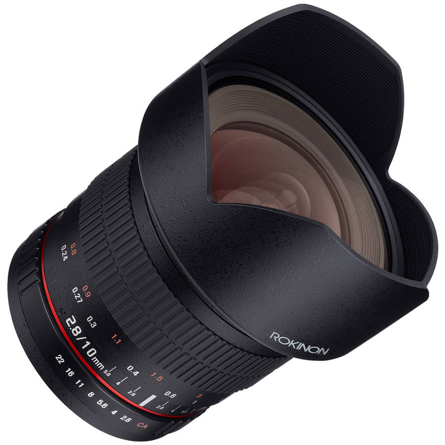 Rokinon 10mm F2.8 Ultra - Wide - Angle Lens for Nikon AE with Automatic Chip