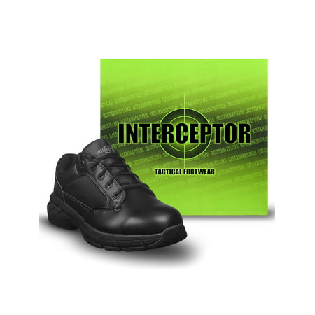 - Interceptor Men's Knight Lightweight Utility Boots, Slip Resistant, Black