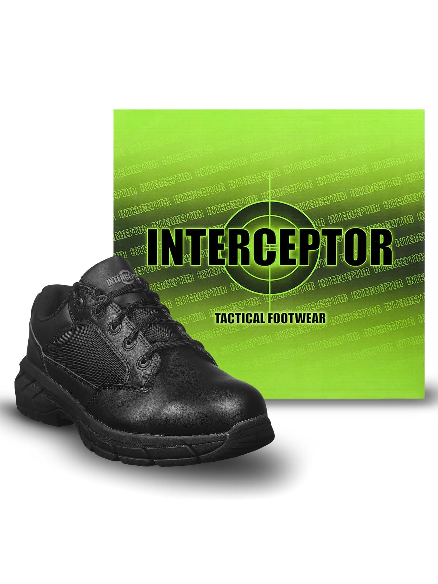Interceptor Men's Knight Lightweight Utility Boots, Slip Resistant, Black
