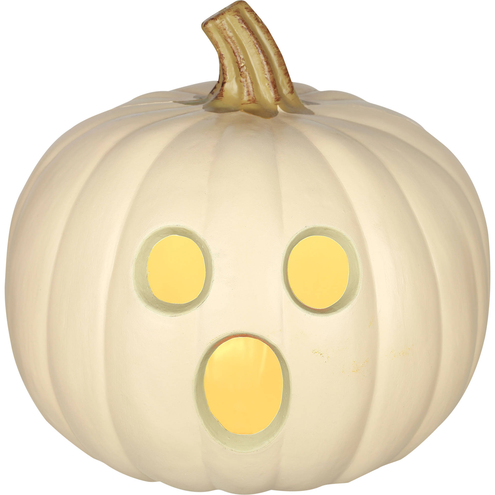 "Molded Light Up Jack O Lantern, 9"" Halloween Decoration"