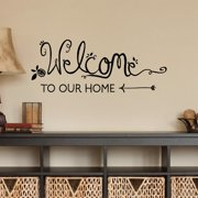 Belvedere Designs LLC Welcome To Our Home Handwritten Wall Quotes  Decal