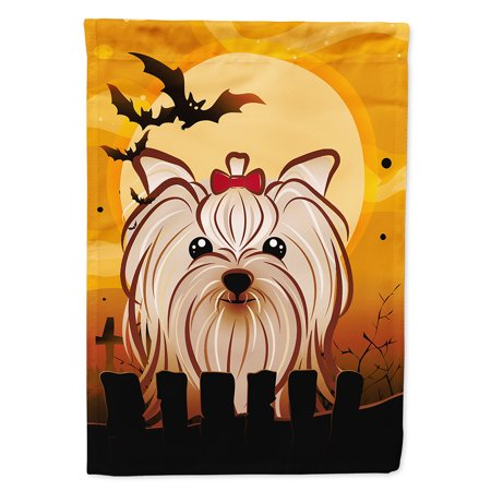 Halloween Yorkie Yorkshire Terrier Garden Flag](Yorkshire Halloween)