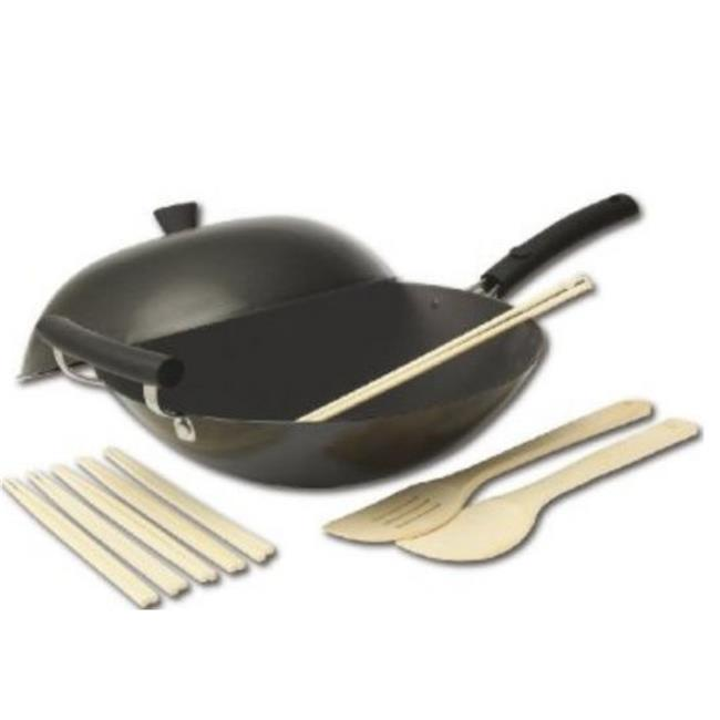 Columbian Home Products 21-9980 Carbon-Steel Nonstick Wok Set - 12 Pieces