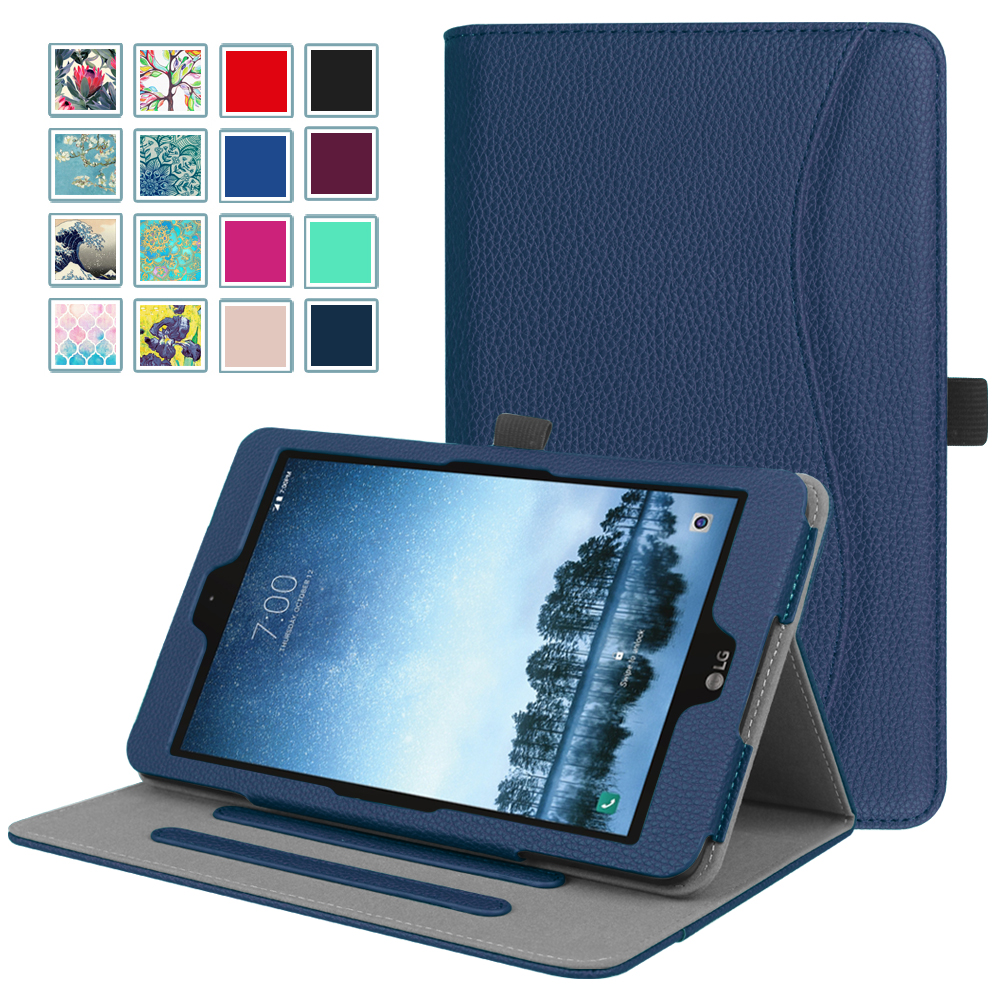 Fintie Case for Sprint LG G Pad F2 8.0 Model LK460 2017 Release Tablet (Not Support Extra Battery Plus Pack), Navy
