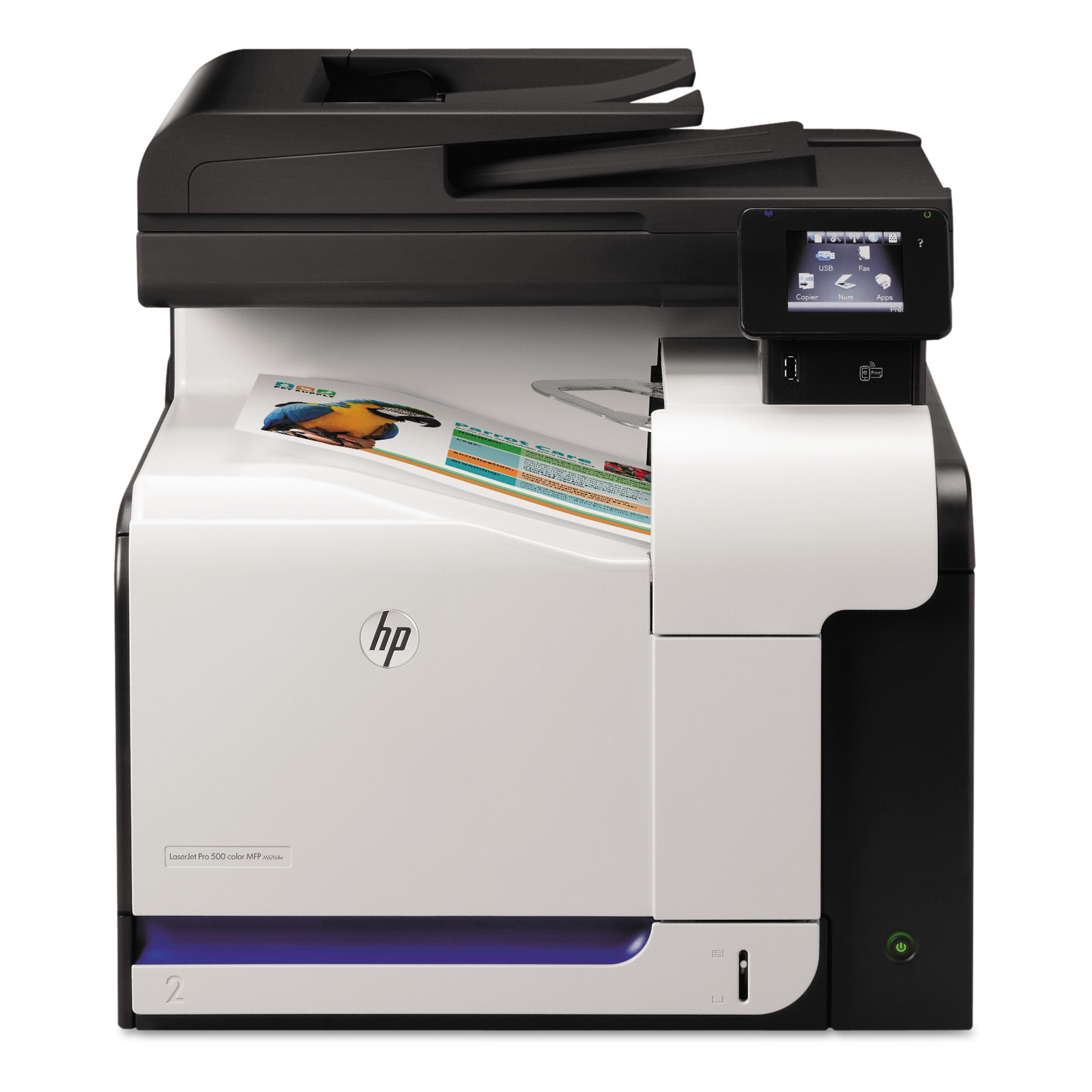 HP LaserJet Pro 500 Color MFP M570dn Laser Printer, Copy/Fax/Print/