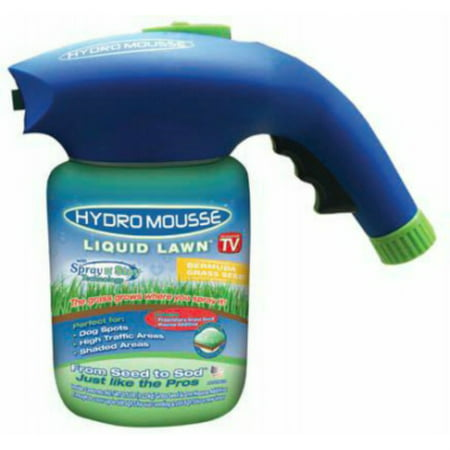 Hydro Mousse 17000-6 Liquid Lawn Bermuda Grass Seed, Spray-n-Stay, As Seen On