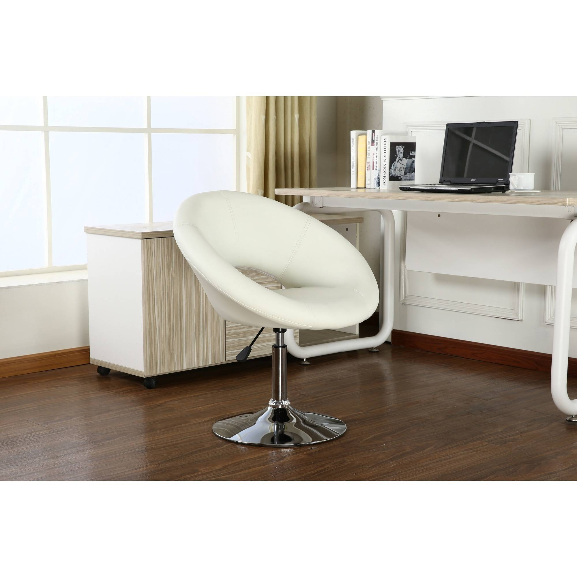 Roundhill Adjustable Swivel Accent Chair, Multiple Colors Available