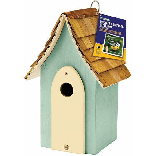 Country Cottage Nest Box, Green