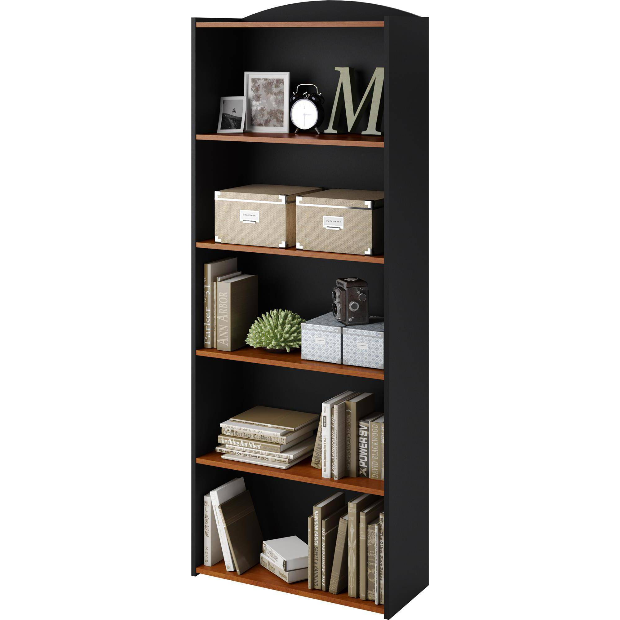 Mainstays 5 Shelf Bookcase, Multiple Colors   Walmart.com