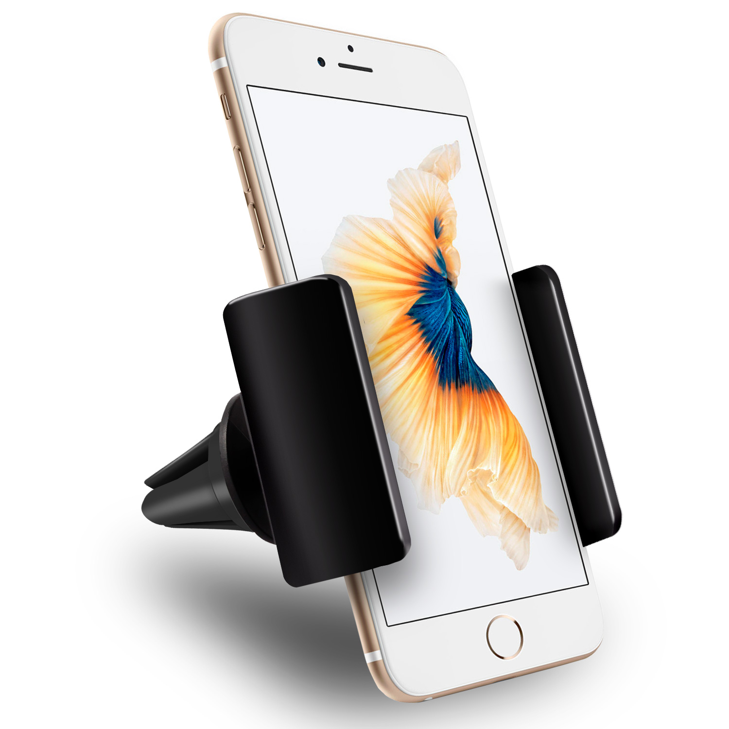 "Air Vent Car Mount, Vena AIR55 [One Hand] Mount Phone Holder for iPhone X (Ten/10) 8 Plus 8 7, Galaxy S8 Plus S8 Note 8 S7 Edge, Google Pixel XL, LG G6 G5, Moto G5 Z Force, BLU Phones (3.5""-6.3"" inch)"