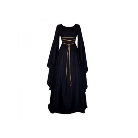 Fymall Women Medieval Dress Vintage Victorian Renaissance Gothic Gown - Medieval Clothing For Sale