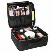 Cwatonfozk Soft Makeup Bag/ Makeup Case, Black