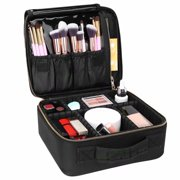 Professional Cosmetic Makeup Bag Organizer Makeup Boxes Black-S