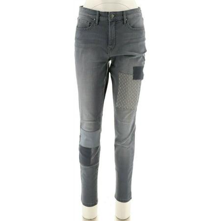 Martha Stewart Patchwork 5-Pocket Ankle Jeans Women's A301087 Womens 5 Pocket Hipster Jean