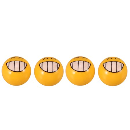 - 4Pcs Bicycle Ball Valve Caps with Cute Emoji Pattern Air Valve Caps Tyre Valve Dust Covers for MTB Motorcycle Bicycle Accessories