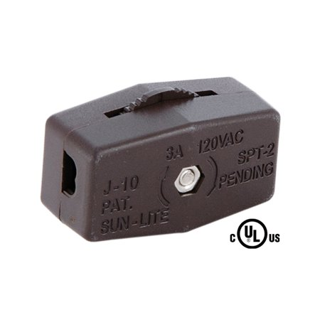 Brown Lamp Cord - B&P Lamp Brown Inline Rotary Cord Switch For 18/2 Spt-2 Lamp Cord