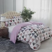 Super Soft Luxury 3 Piece Printed Duvet Cover Set,Queen Size