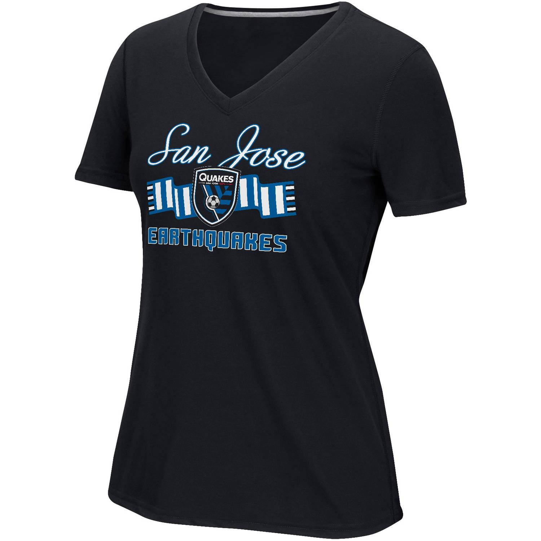 MLS-San Jose Earthquakes-Women's Middle Logo Scarf Tee