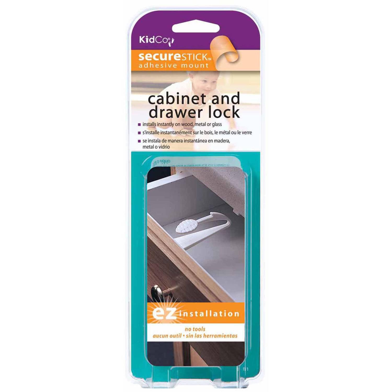KidCo Adhesive Mount Cabinet and Drawer Lock - Walmart.com