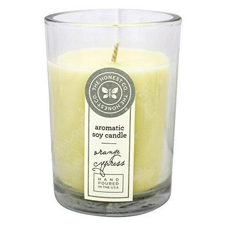 The Honest Company Orange Soy Orange Cypress Aromatic Candle Holder