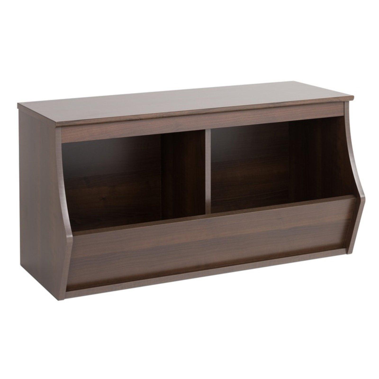 Prepac Monterey Stackable 2 Bin Storage Cubby - Walmart ...