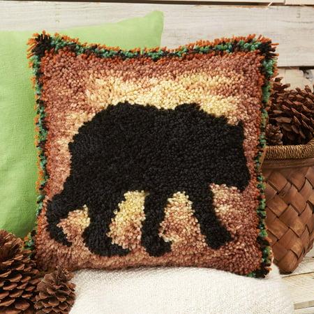 Herrschners® Cabin Fever Bear Pillow Latch Hook Kit](Hook Latch)
