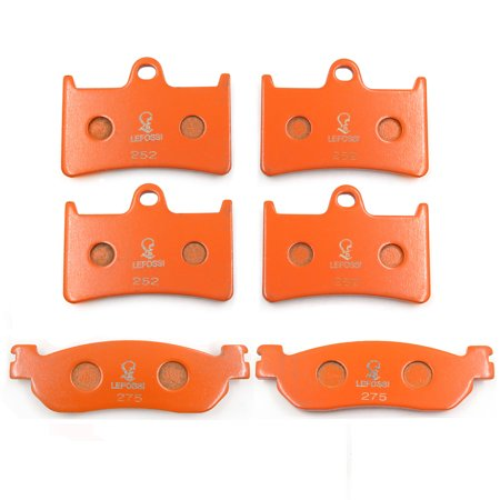 HTTMT Replacement of FA252 FA275 Brake Pads for Yamaha YZF R6 600 1999-2002 YZF R1 1000 2002-2003Front Rear Carbon