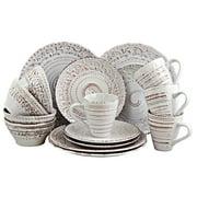 Elama Ocean Breeze 16-Piece Dinnerware Set, Cream