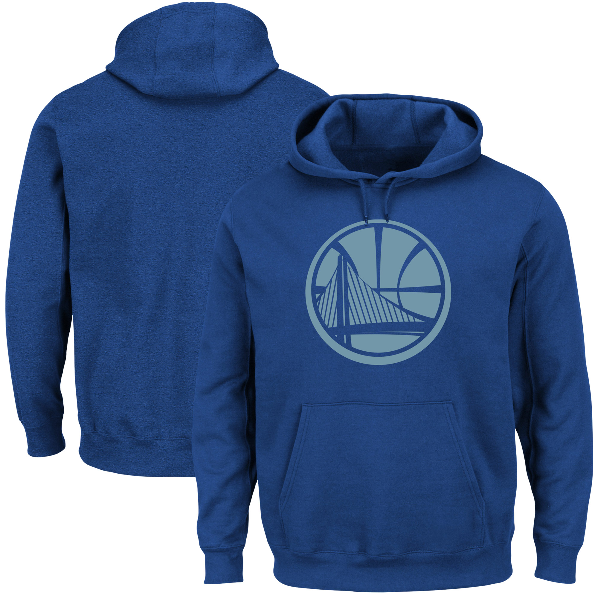 Golden State Warriors Majestic Reflective Tek Patch Hoodie - Royal