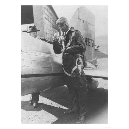 Howard Hughes Pilot Boarding Plane in Full Uniform Photograph - Newark, NJ Print Wall Art By Lantern Press (Pilot Uniform)