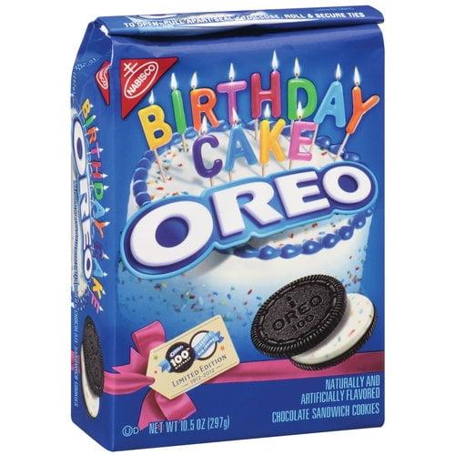 Nabisco Oreo Chocolate Birthday Cake Sandwich Cookies, 10.5 oz