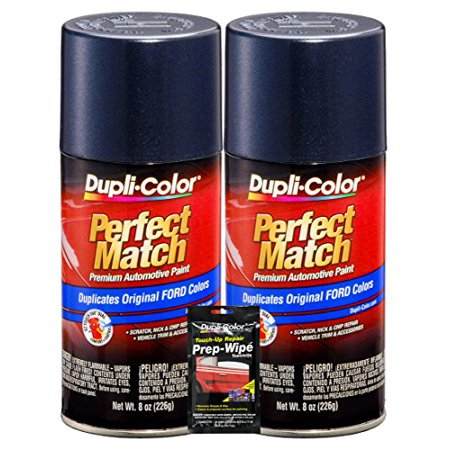 Dupli-Color Medium Wedgewood Metallic Ford Exact-Match Automotive Paint - 8 oz, Bundles with Prep Wipe (3 Items) (Ford Paint Color)