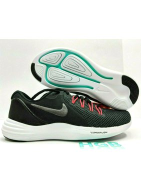 Nike Lunar Apparent Womens Black Grey Red Running Training Gym 908998-003 NIB