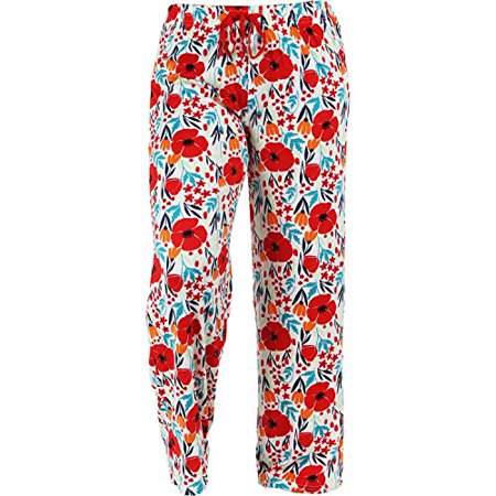Hello Mello Trendy Womens Loungewear Pants with Luxurious Soft Fabric and Adjustable Elastic Waistband - Field of Dreams - Medium/Large