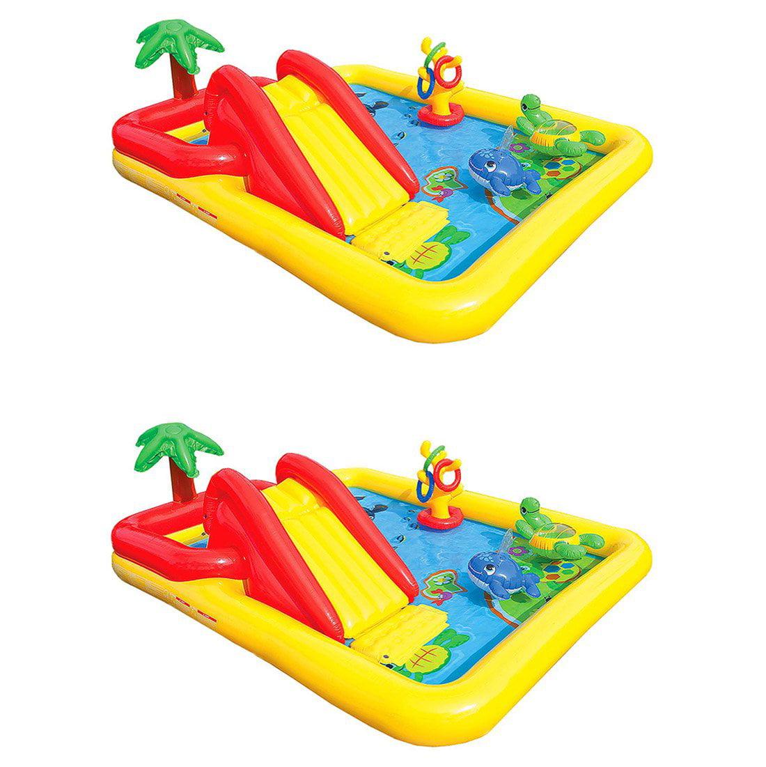 Intex Inflatable Ocean Play Center Kids Backyard Swimming Pool + Games (2 Pack)