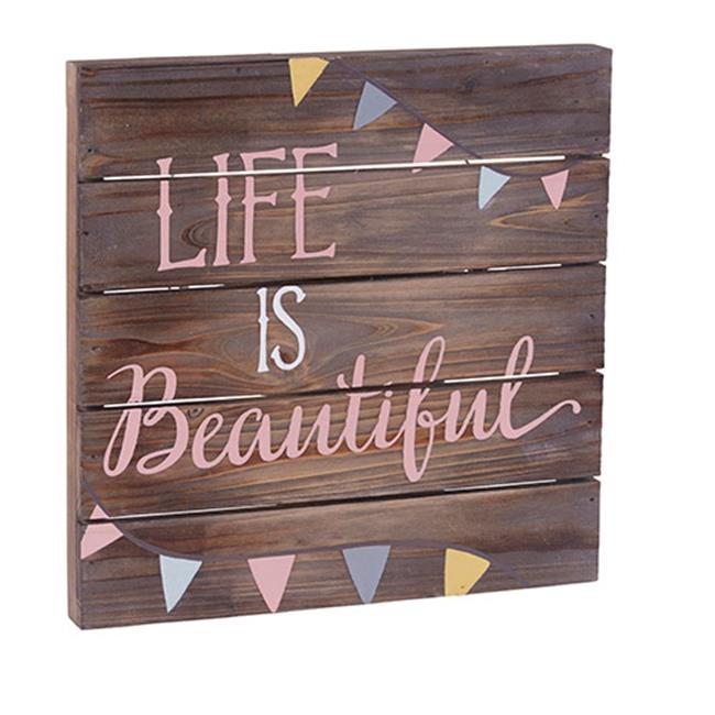 faithworks dark wood pallet sign 12 x 12-inches life is ...