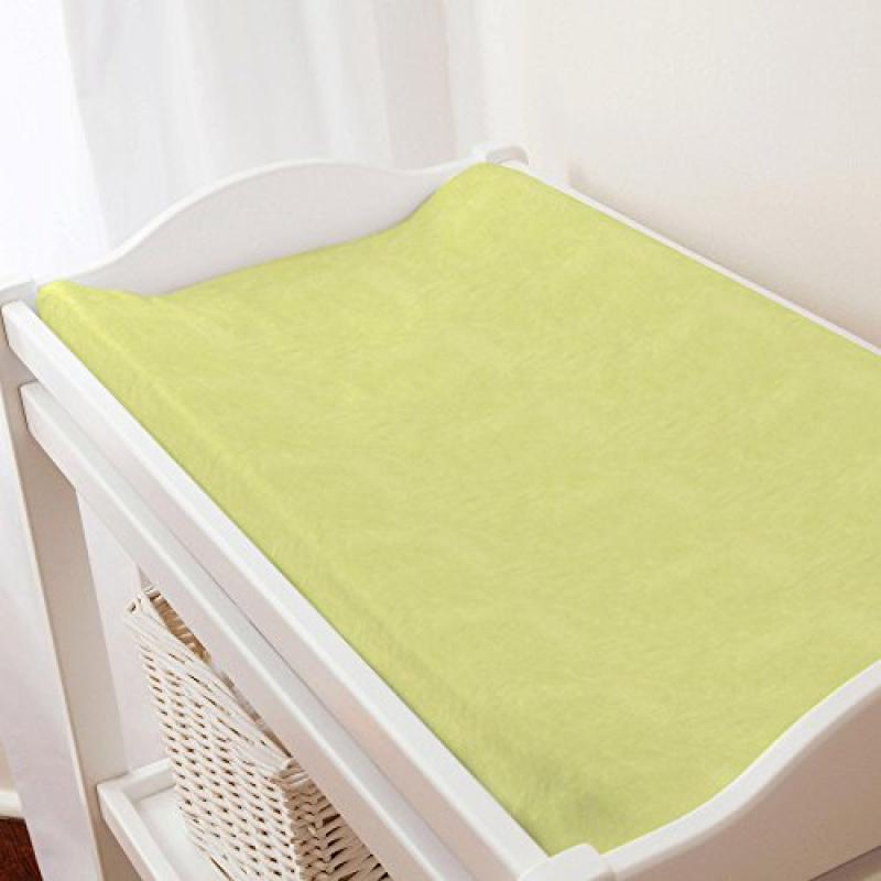Carousel Light Lime Minky Changing Pad Cover