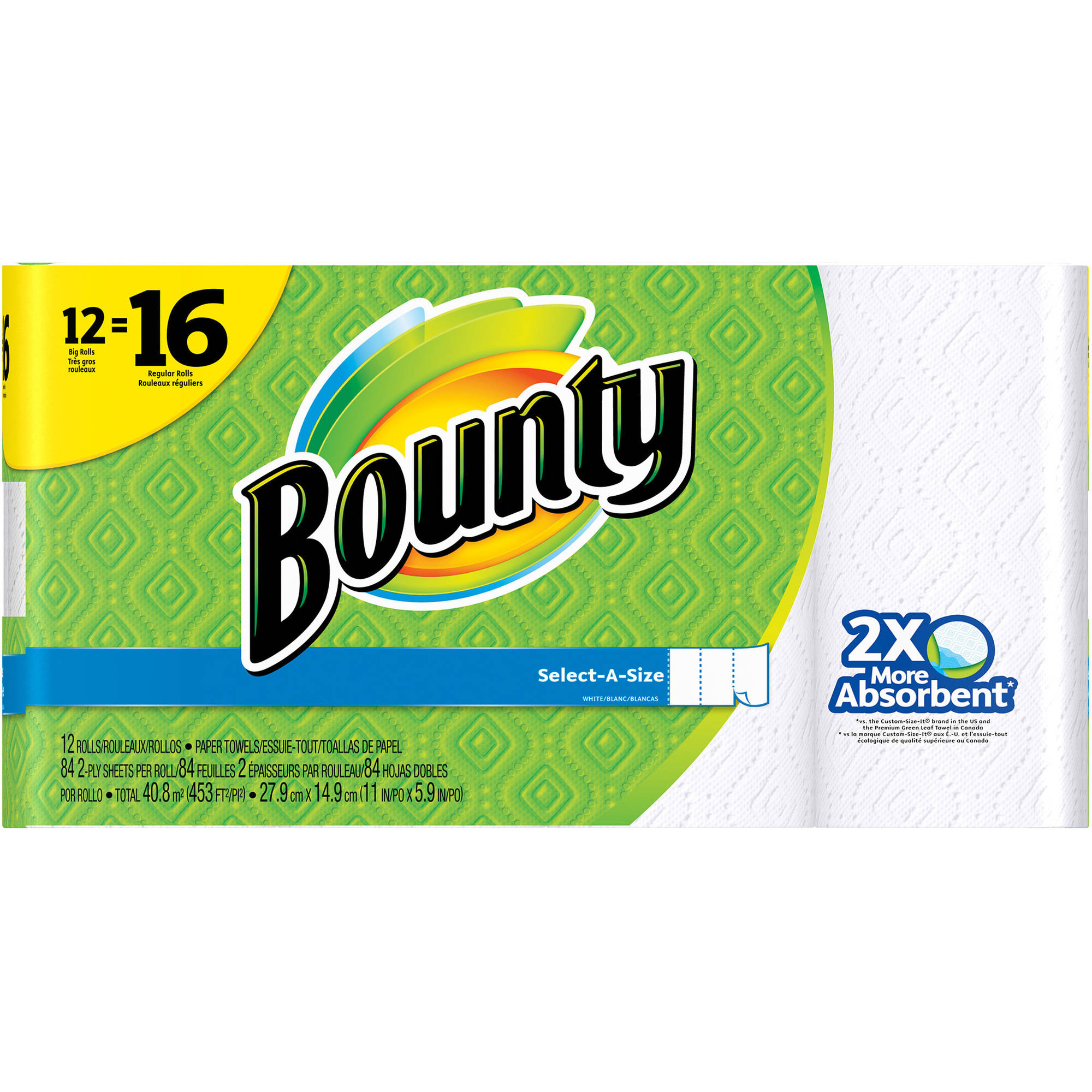 Bounty Select-a-Size Big Roll Paper Towels, 84 sheets, 12 rolls