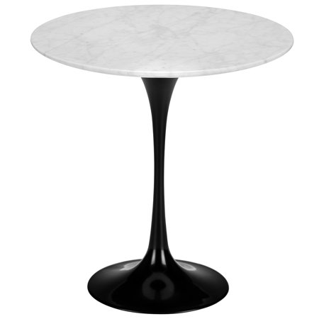 Poly and Bark Daisy 20? Marble Side Table in Black Base