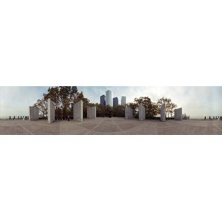 360 degree view of a war memorial East Coast Memorial Battery Park Manhattan New York City New York State USA Canvas Art - Panoramic Images (22 x